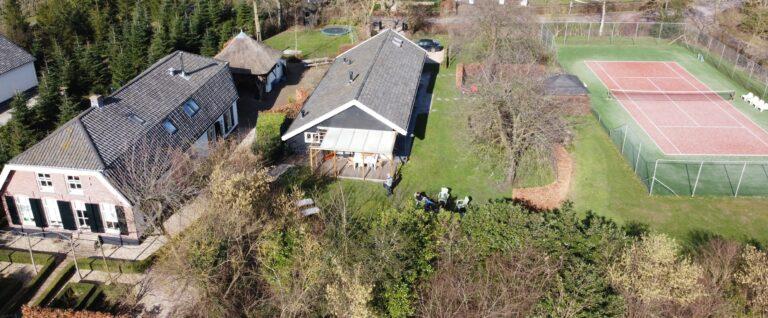 Drone foto Familiehuis De Betuwe